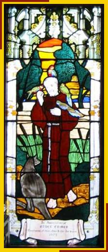 St Francis with Australian fauna dedicated to Ethel Comer 1979