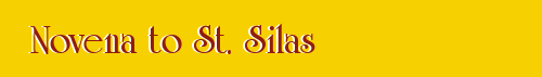 Novena to St. Silas