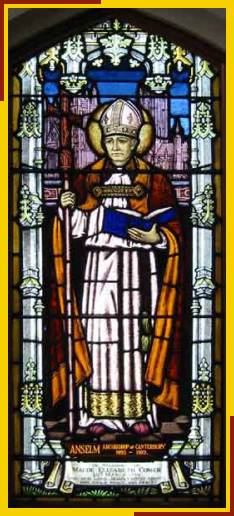 St Anselm Archbishop of canterbury 1095 - 1109
