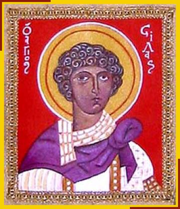 Image of St Silas from banner