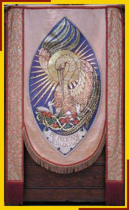 Pulpit banner - Pie pelicane Jesu Domine