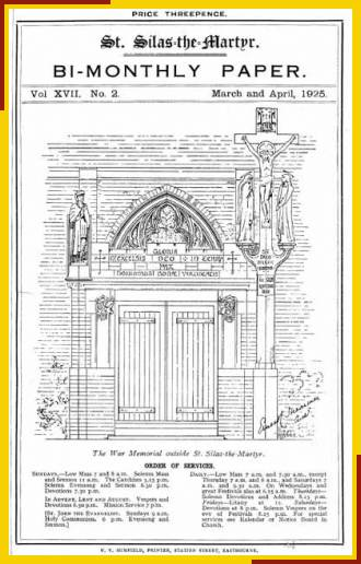 Architect's drawing for the south porch and Calvary.