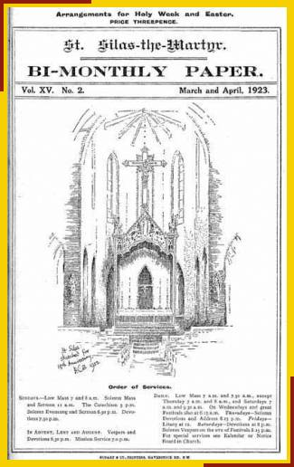 Drawing by Benjamin Boulter of east end and High Altar.