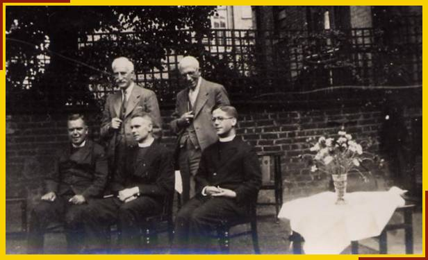 Fr Hillier also (James Bannister standing on left)