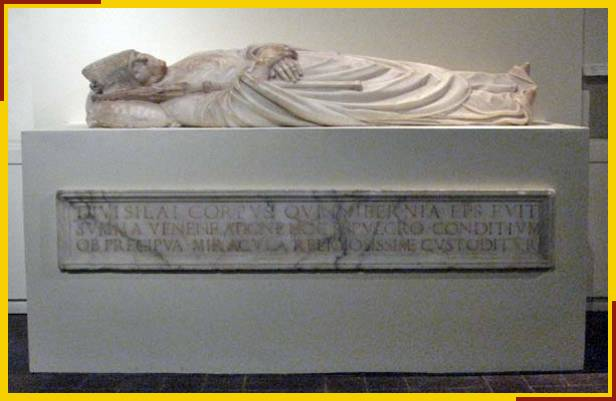 Monument of Saint Silas at Museo Guinigi, Lucca, Italy