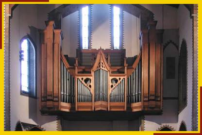 Pipe work and case of Bishop Organ
