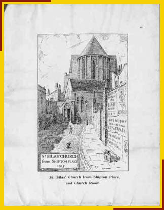 St Silas' Church from Shipton Place, and Church Room. (Drawing by Benjamin C. Boulter)