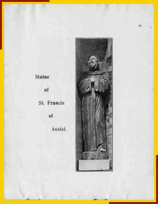 Statue of St Francis of Assisi.