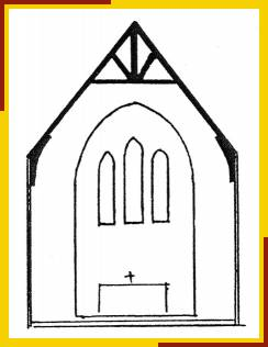 Sketch of east end of church