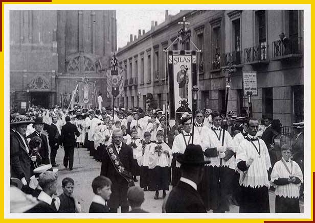 8. Copy of vintage postcard - street procession